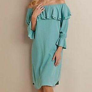 Soft Surroundings Spa Blue Bossa Nova Dress NWT 1X